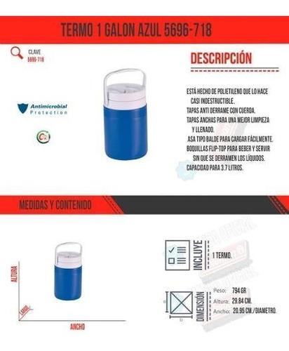 termo 1 galon azul con boton apertura 5696-718 coleman
