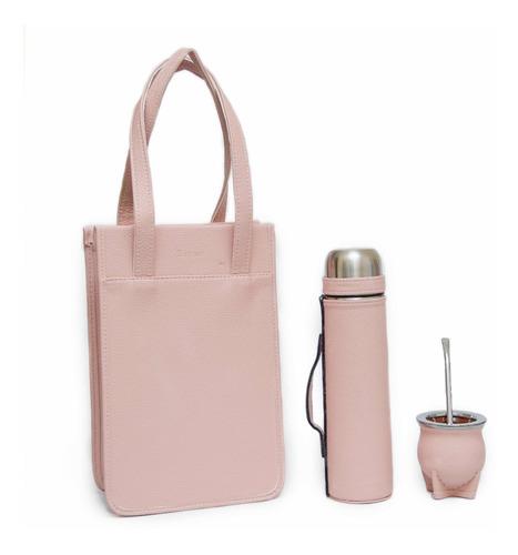 termo 1 litro + mate cerámica + matera + bombilla + regalo