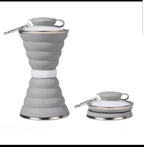 termo 500 ml plegable c/ caja y acero bebidas hot o frias