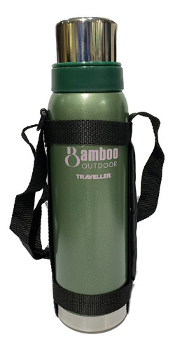 termo acero inoxi bamboo traveller 1lts inal 24hs agua calie