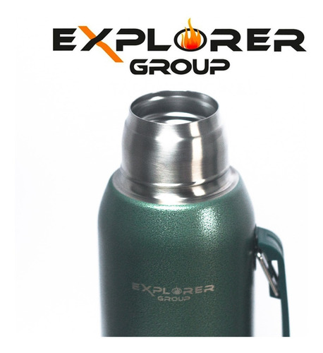 termo acero inoxidable explorer 1 litro manija full 24hs