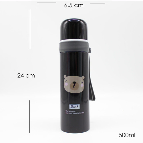 termo acero inoxidable para cafe beso osito500ml hs-6946