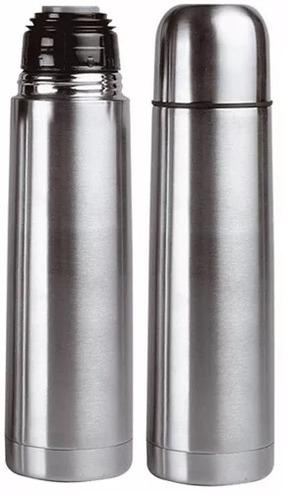 termo bala acero inox 1 litro tapon matero c/funda oferta