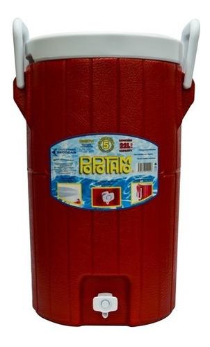 termo barril con asa con capacidad para 22 lts