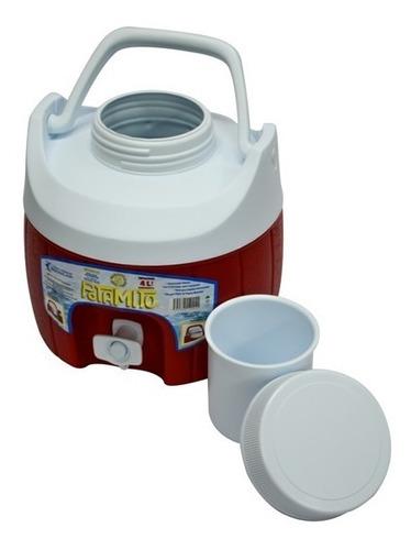 termo barril con asa con capacidad para 4 lts