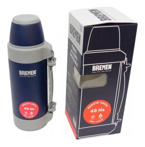 termo bremen 1,2 l - 48hs acero inoxidable + botella tekking