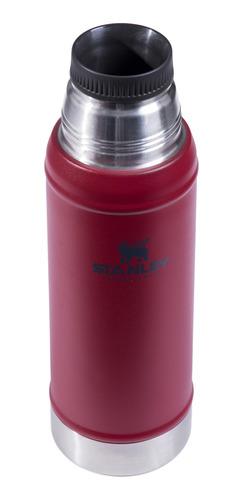 termo clasico 750ml rojo con tapon cebador small stanley