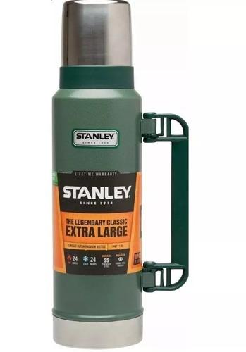 termo clasico stanley 1.3 lts con manija y tapon cebador