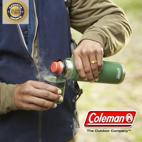 termo coleman 700cc acero 24hs. matero garantia por vida
