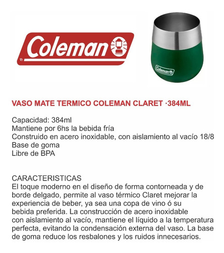 termo coleman botella térmica 0,7l switch + mate coleman