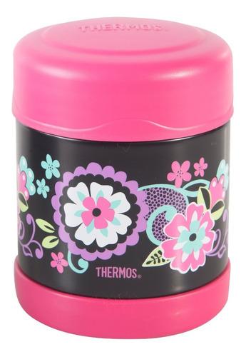 termo comida 300 ml flores  thermos