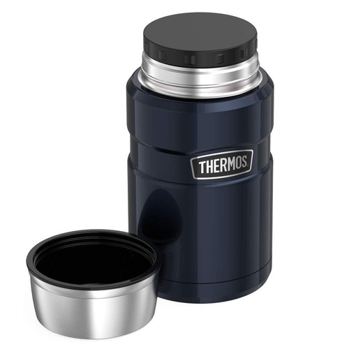 termo comida  king acero inox 710 ml negro - thermos
