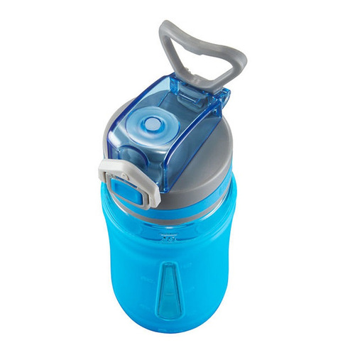 termo escolar para niños 16 oz flo manga silicon azul bubba