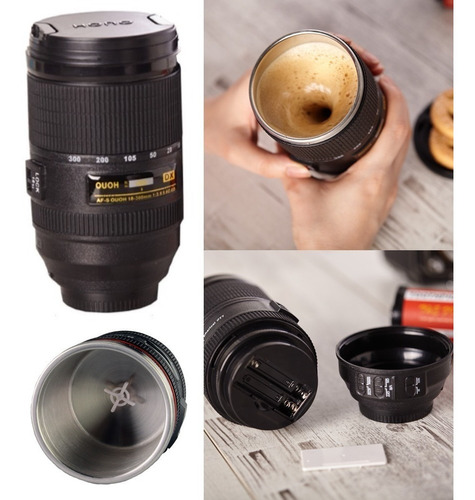 termo forma de lente de cámara con agitador · de acero inox