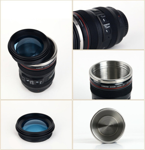 termo forma lente de cámara. filtro azul. interior de acero