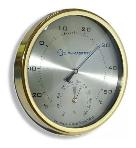 termo-higrômetro analógico temperatura e umidade incoterm