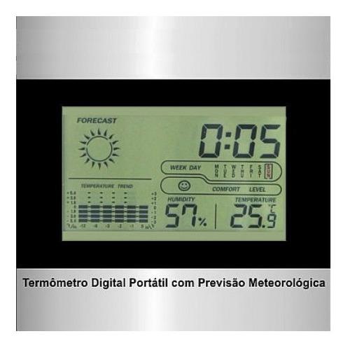 termo higrometro digital estacao meteorologica maxima minima
