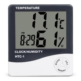 Termo-higrômetro Digital Relógio Temperatura Umidade Ar E10