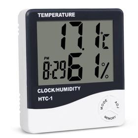 Termo-higrômetro Digital Termômetro Higrômetro Relógio Htc1