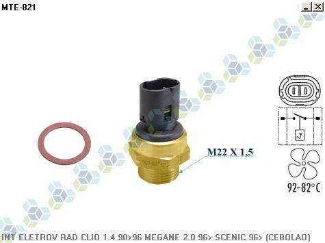 termo interruptor radiador renault laguna 2.0 94/... - mte