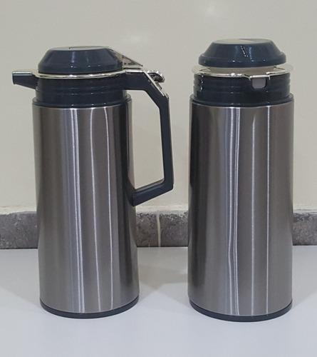 termo jarra de acero inoxidable 1,9 l con manija + envio