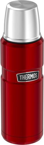 termo liquido  king acero inox 470 ml rojo - thermos