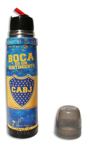 termo lumilagro acero boca jrs 1 lt forrado cuero - fdn pp