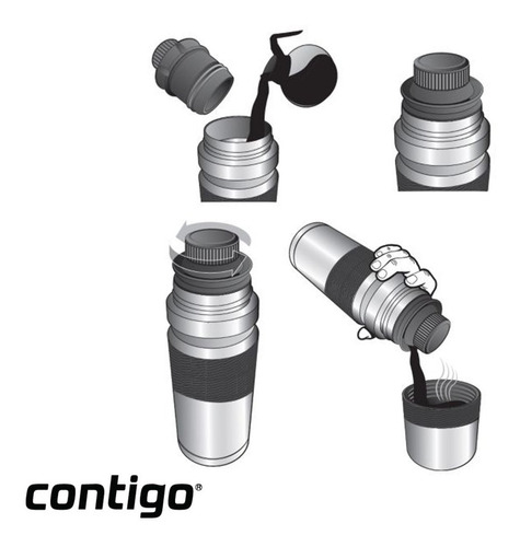 termo mate contigo acero  1200ml acero inoxidable beverage