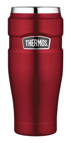 termo mug king acero inox 470 ml rojo - thermos