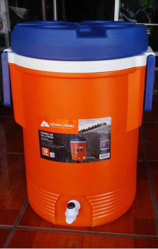 termo refresquero de 19 litros. 5 galones