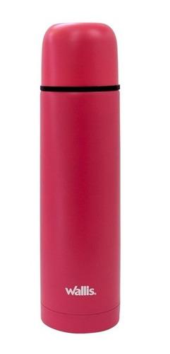 termo rosa wallis acero inoxidable 500 ml + funda + envio
