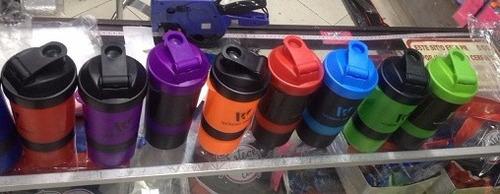 termo shaker mezclador de proteina wonder 3 compartimientos