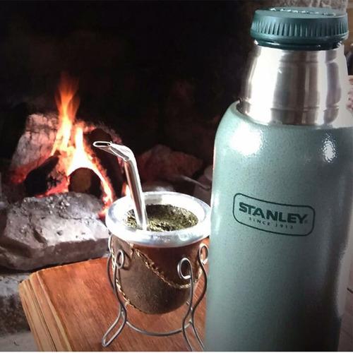 termo stanley 1 litro clasico tapon cebador 24hs frio calor
