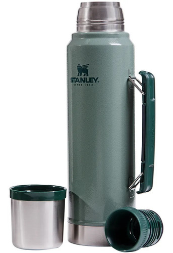 termo stanley 1 lt clásico con tapón cebador. original