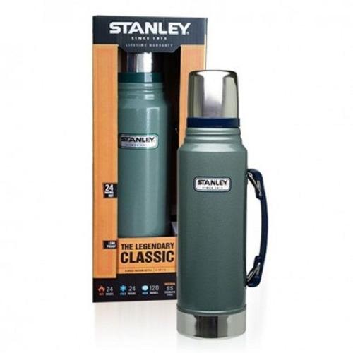 termo stanley 1lt acero inoxidable c/ tapon cebador verde mm