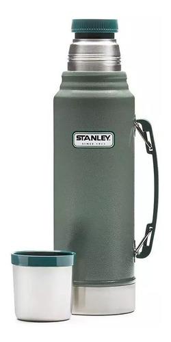 termo stanley 1lts 24h frio/calor classic pico cebador verde