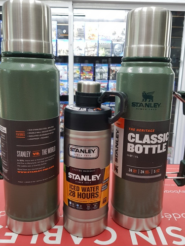 termo stanley  clasicc de 1 litro original verde super ofert