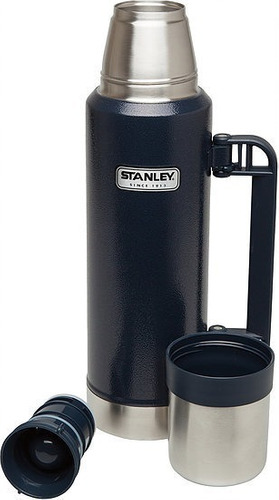 termo stanley clasico azul con pico cebador 1 litro