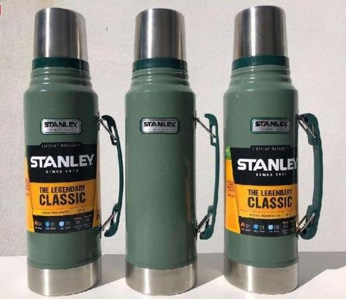 termo stanley classic 1 litro. color verde