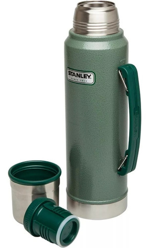 termo stanley  classic bottle 1 litro verde