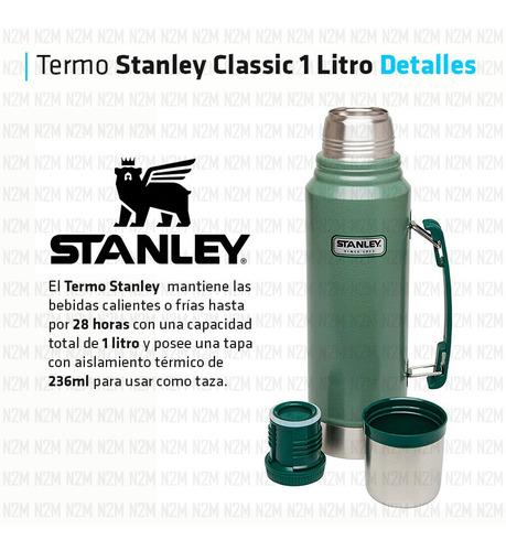 termo stanley classic original 1 litro verde tapon cebador