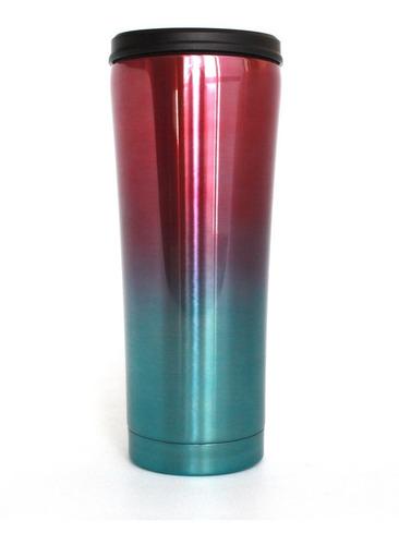 termo straw · doble capa de acero inox · 550ml · popote