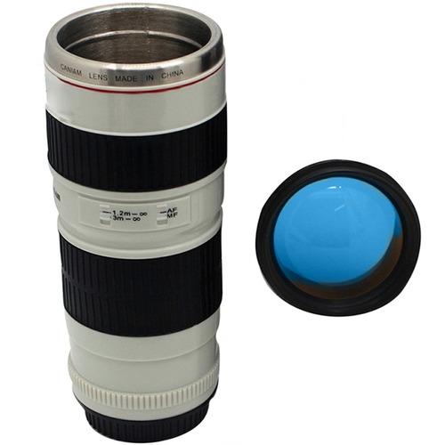 termo taza forma de lente de camara 70-200 blanco h1118