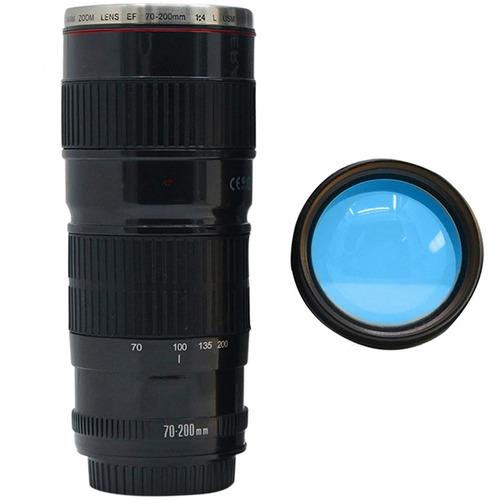 termo taza forma de lente de camara 70-200 negro h1118
