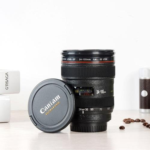 termo vaso forma lente de cámara reflex caniam · 360 ml