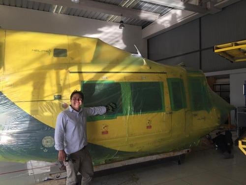 termocontracción o protección de helicopteros, lanchas, etc