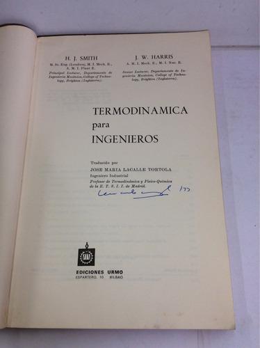 termodinámica para ingenieros, h. j. smith