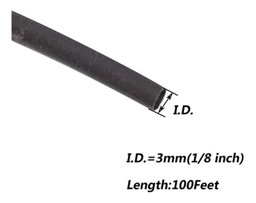 termoencogible  negro 2mm, 3mm, 5mm y 6mm rollo 30 mts cable