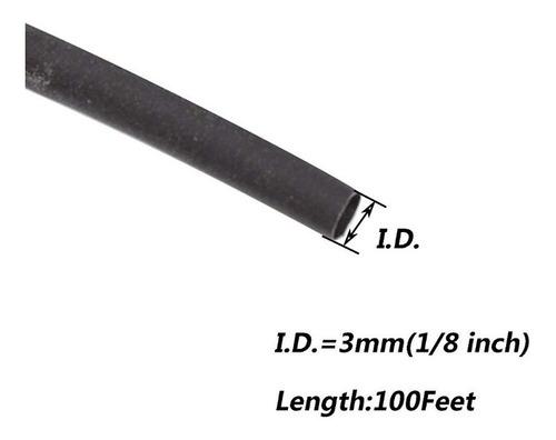termoencogible  negro para cable  30 mts