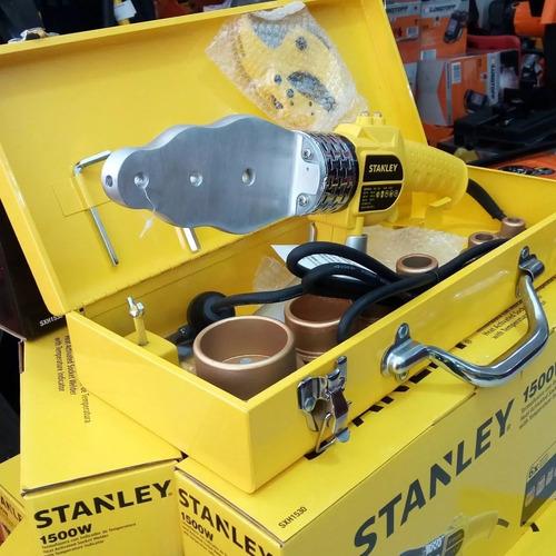 termofusora 1500w 6 boquillas stanley + cortatubo de regalo